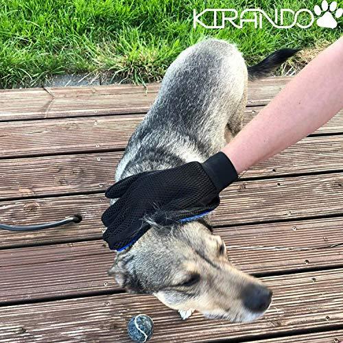Kirando's Premium Fellpflege-Handschuh | besonders effiziente und schonende Tierhaar-Entfernung! | Reinigung, Pflege & Massage in einem Schritt für ihren Hund oder Katze! - 6