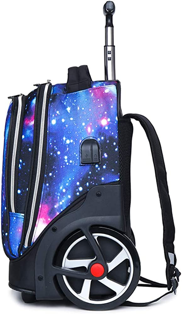 15.6 Inch Laptop Rolling Trolley Rucksack School Bag Backpack with Wheels