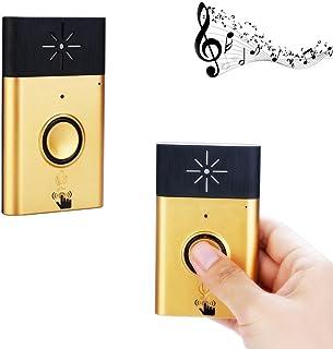 Wifi Intercom Doorbell, Wireless Portable Voice Doorbell Smart Door Chime with 1 Push Button Transmitter and 1 Receiver 600ft Range High Volume Door Bell Kits