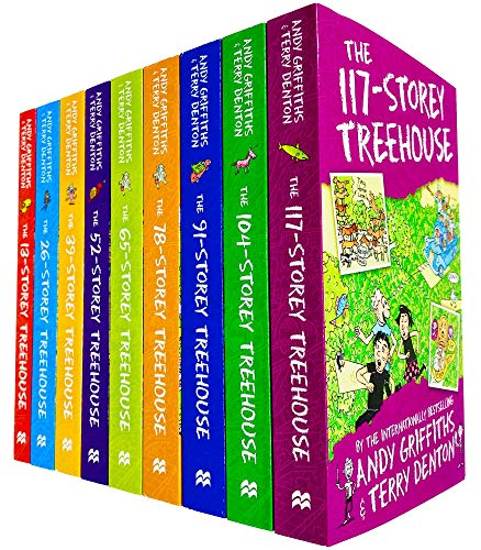 The Treehouse Storey Books 1 - 9 Collection Set by Andy Griffiths & Terry Denton (13-Storey, 26-Storey, 39-Storey, 52-Storey, 65-Storey, 78-Storey, 91-Storey, 104-Storey & 117-Storey)