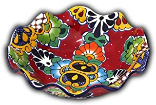 Fruit Bowl - Decorative Plate - Hand Painted Mexican Pottery Talavera - 11.4