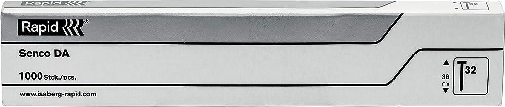 Rapid Nagelnagels roestvrij staal type 32, 50 mm 34 ° stripnagels 15 Ga V2A, 1.000 stuks, met geharst oppervlak, voor pneu...