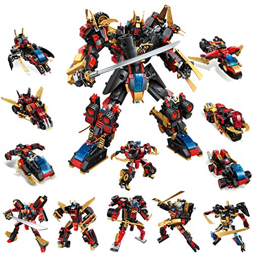 STEM Robot Building Kids Toys, 908 PCS Mech Warrior, 12-in-1 Activities Robots Educational Bricks, Cool Toy Game for 8-12 Year Old Boys Girls Gift Set STEAM Learning Creative Blocks