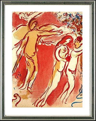 Marc Chagall (1887-1985), Original Lithographie: Adam und Eva – Vertreibung aus dem Paradies, 1960