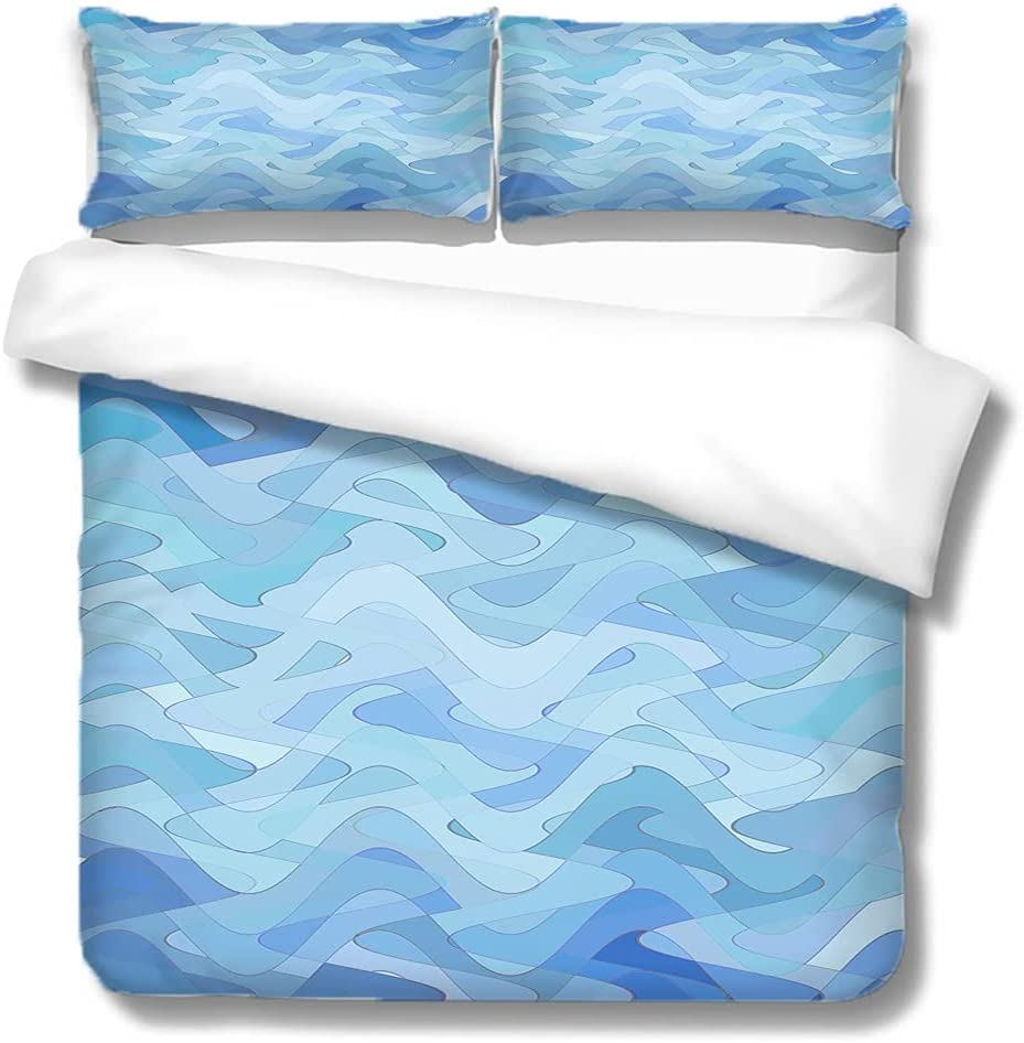 cheap SVDS Boys Gaming Room Comforter Super beauty product restock quality top! Cover Blue Print Water T Ripples