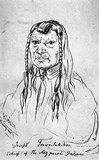 Nez Perce Old Joseph Nold Joseph Father Of Chief Joseph Of The Nez Perce Drawing C1854 By Gustavus Sohon Poster Print by (18 x 24)