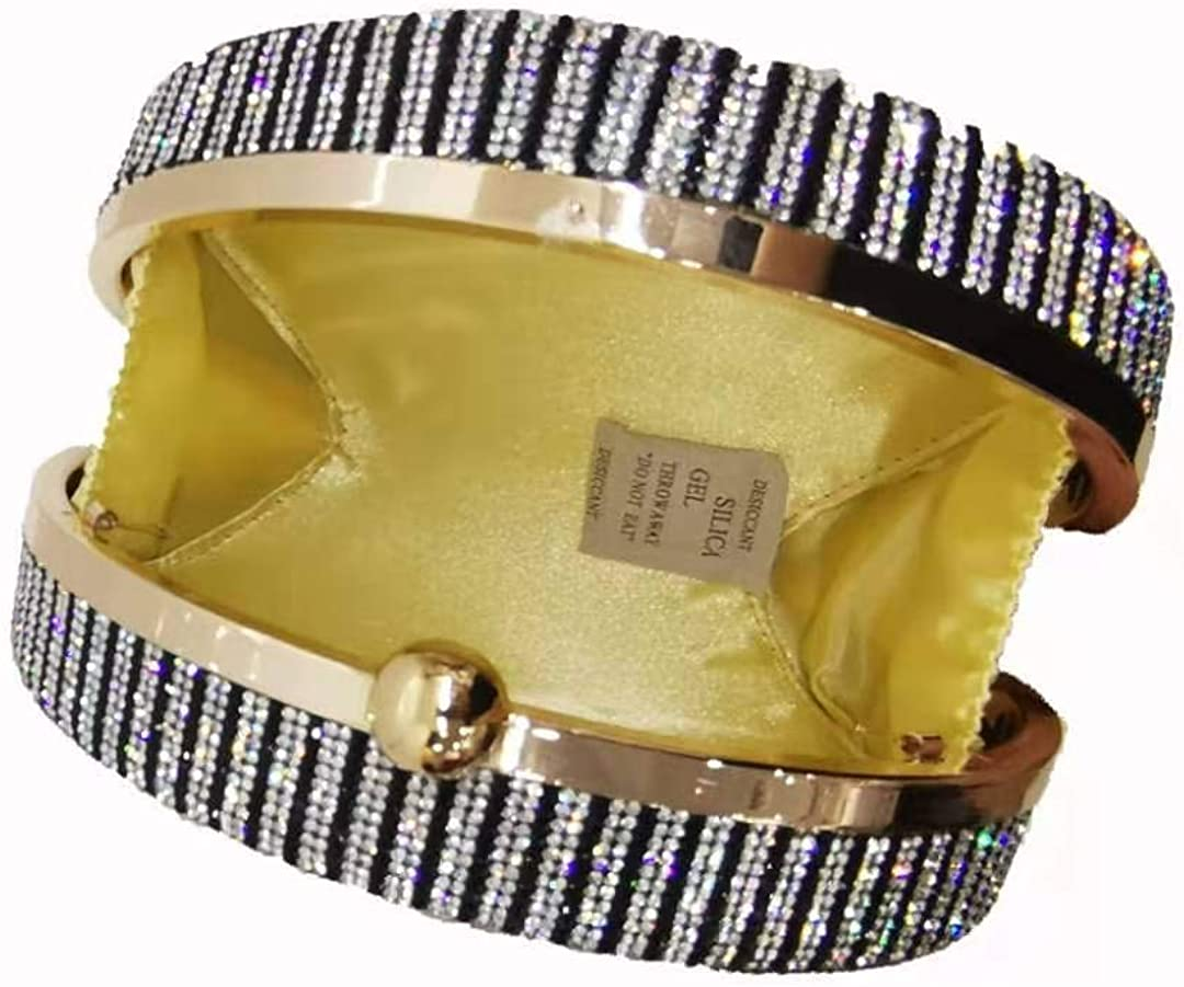 Women Crystal Rhinestone Clutch Purses Evening Handbags CASH Dollars Purses