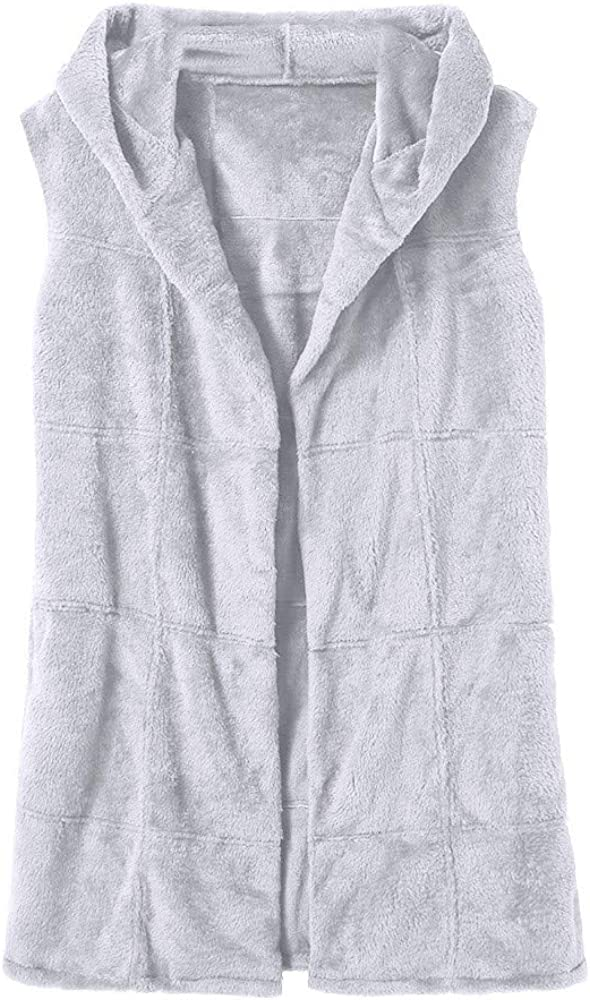 F_Gotal Fashion Women's Plus Size Warm Long Faux Fox Fur Vest Waistcoat Sleeveless Jacket Hip Hop Coat Warm Winter