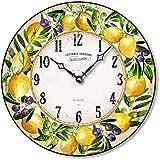 Fairy Freckles Studios Italian Pottery Style Lemon Wall Clock C8029 (Ivory)