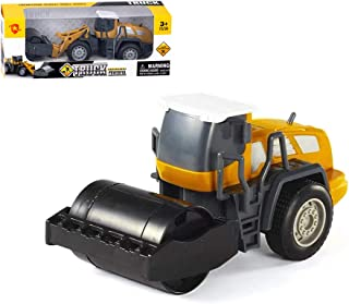 Geminismart Die-cast Articulated Road Roller Engineering Vehicle Construction Models Toys for Kids (Road Roller)
