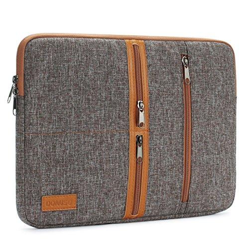 "DOMISO 13,3 Pollici Custodia Borsa per Computer Portatile PC Protettiva Laptop Sleeve per 13"" MacBook Air A1466 A1369/MacBook PRO Retina A1502 A1425/13.5"" Surface Book/13.3"" ThinkPad L380, Marrone"