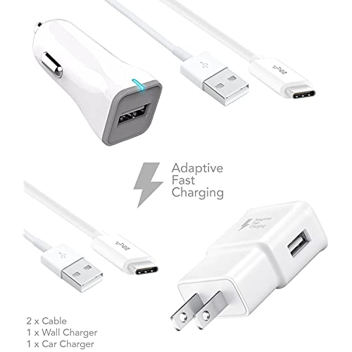 Google Pixel 2 Type-C Cable Adaptive Fast Charger Kit by Ixir {Car Charger + Wall Charger + 2 Type-C Cable} Fast charger up to 50% faster charging!
