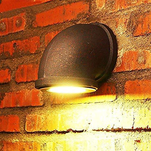 Meixian Wandlamp retro waterleiding industriële wind groot, 9 watt High Power LED-lichtbron (14 x 16 cm) eenvoudig retro