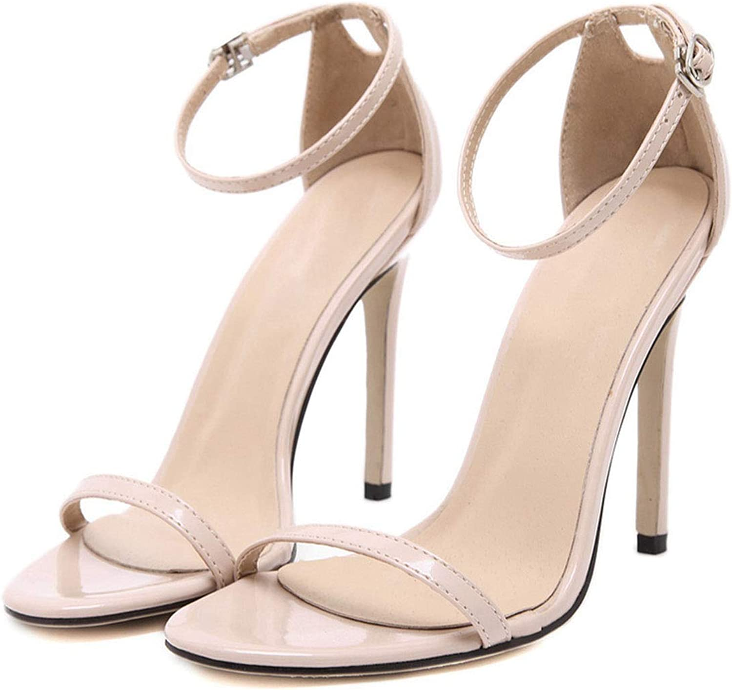 Fashion Classics Brand Za R Peep Toe Buckle Trap Stiletto High Heels Sandals shoes Woman bluee White Red Wedding shoes Factory 43
