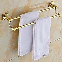 Sprinkle Duvar askısı WC havlu çubukları banyo duş aksesuarı altın kaplama pirinç banyo havlu askısı altın havlu çubukları...