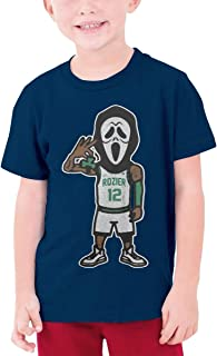 Teens Round Neck T-Shirt Scary Terry Rozier Unique Original Style Navy