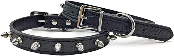 Enjoying Spiked Dog Collar Pet Leather Collars Puppy Collar