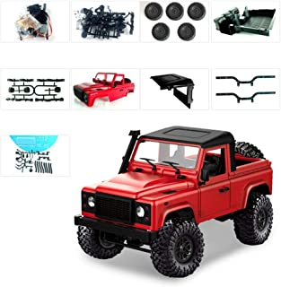 RC Car Off-Road Vehicle 2.4G 4WD RC Crawler Truck Toy Land Rover Defender Remote Control Car DIY Set, MN-91K Kit Sin Ensamblar High Speed ​​Off Road Truck 1:12 Modelo A Escala, Adelante