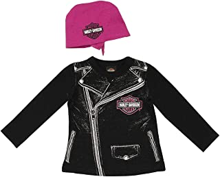 Harley-Davidson Girls Baby Biker Babe Tee & Do Rag Starter Set