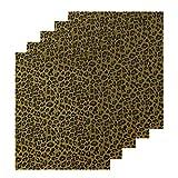 Sov 5pcs/Set 12' x 9.8' Leopard Patterned Metallic Iron- on Heat Transfer Vinyl Foil HTV Craft Film Leopard Bundle Garment Clothing for T-Shirt Decoration DIY Craft Material (Green with red spot)