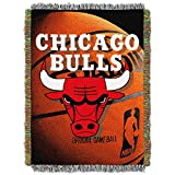 Officially Licensed NBA Photo Real Woven Tapestry Throw Blanket, 48' x 60', Team Color