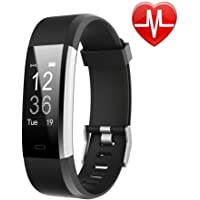 Lintelek Waterproof Smart Fitness Tracker with Heart Rate Monitor, Calorie Counter, Pedometer