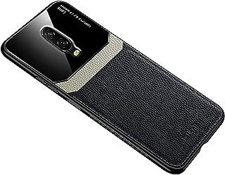 لهواتف ون بلس 6T / لهواتف ون بلس 7 حافظة من الجلد الناعم غطاء سيليكون حماية زجاجي - اسود