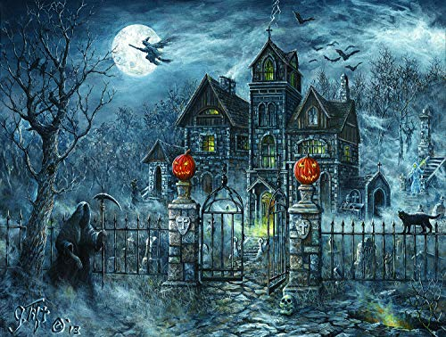 Uninvited Guest Halloween 500 pc Jigsaw Puzzle by SunsOut - Halloween Pumpkin Trick or Treat
