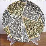 Channing Southey - Plato decorativo de cerámica para periódicos viejos de 8 pulgadas, revistas de cerámica, cerámica, cerámica, cerámica, adorno de decoración de pared para el hogar y la oficina