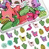 Cinco de Mayo Wooden Push Pins Decorative Drawing Pins Alpaca Llama Flamingo Cactus Leaf Push Pins for Home Office Classroom Photos Wall, Maps, Bulletin Board, Cork Boards, 15 Styles (30)