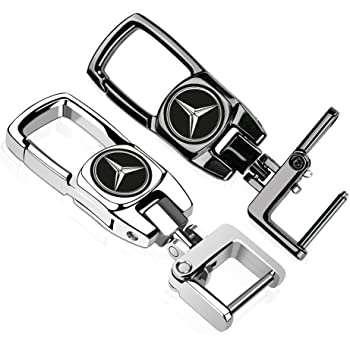 Jazzshion 2Pack Car Logo Keychain Key Chain Keyring Family Present for Man and Woman Suit for Mercedes-Benz A C E S Class Series,GLK CLA GLA GLC GLE CLS SLK AMG Series
