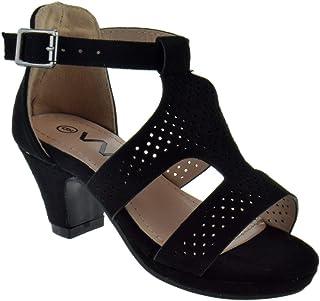 f48208b91becf WK TR K22-5KM Little Girls Heeled Strappy Gladiator Dress Sandals