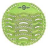 Uri-Fresh - Protector para orinales (2 unidades, con guantes) 3.0 urinal Mat Green Apple (manzana) con guantes