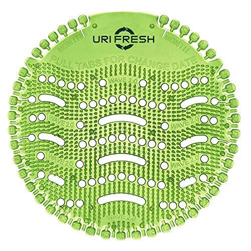 Uri-Fresh - Protector para orinario (2 unidades, con guantes) 3.0, color verde manzana, con guantes