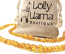 Certified from The Baltic Sea Genuine Baltic Amber Necklace by Lolly Llama Milky White Color