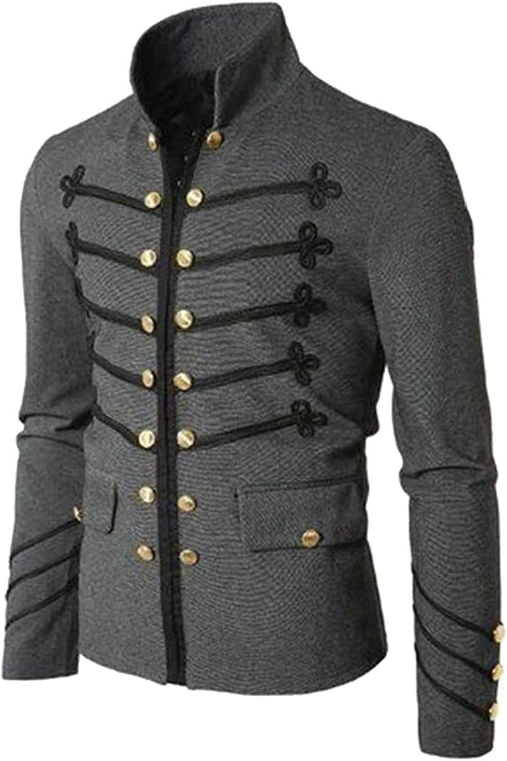 Generic Generic Generic Men's Classic Slim Fit Double-Breasted Jacket 1468a0
