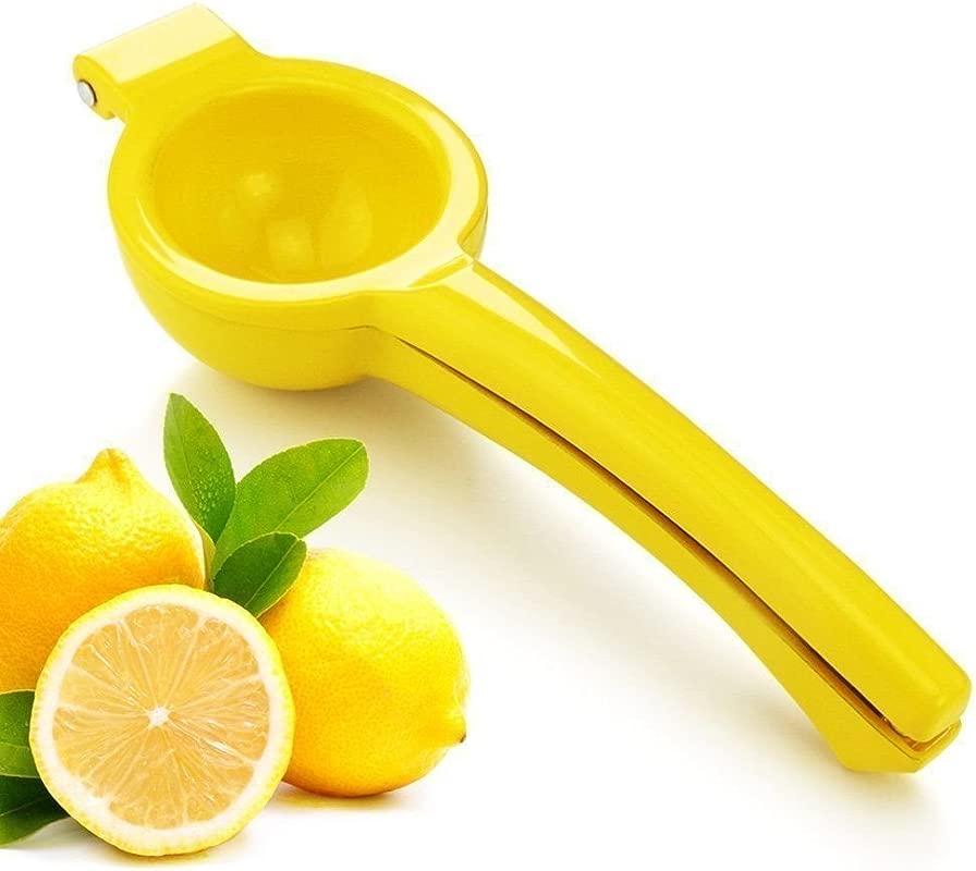New Star Foodservice 42856 Enameled Aluminum Lemon Squeezer Yellow