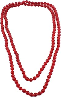 Imitation Ggate Stone Necklace for Women Party Long Statement Necklace 55