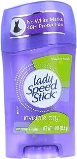Lady Speed Stick Antiperspirant Deodorant Invisible Dry Powder Fresh 1.40 oz (Pack of 4)