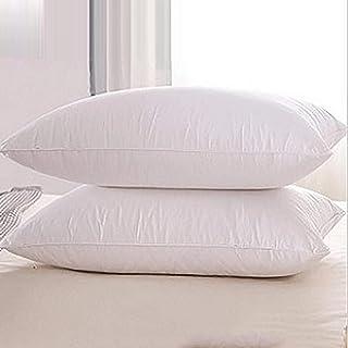 AMAFS Oreiller en Plumes d'oie, pour Dormir, Lot de 2, oreillers de lit d'hôtel, Soutien Moyen Ferme, Coque 100% Coton Ant...