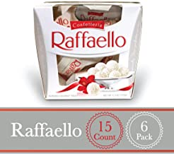 Ferrero Raffaello Almond Coconut Candy, 15 Count, Pack of 6 Individually Wrapped Coconut Christmas Candy Gift Boxes, 5.3 oz, Great Stocking Stuffers