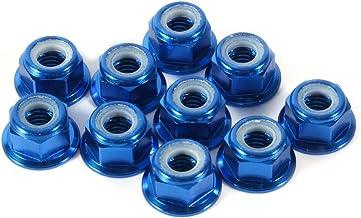 TLBBJ Moeren en bouten 10ST M5 Aluminium Flens Nylon Lock Moer Blauw Rood Goud Zwart Duurzaam (Kleur: Zwart)