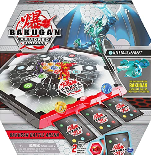 Bakugan Armored Alliance Battle Arena, campo de juego bordeado con la fusión exclusiva de Bakugan