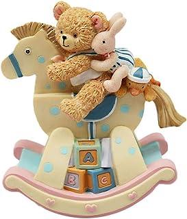 XYZMDJ musiklåda, björnkanin statyett musikbox, barndagspresenter, födelsedagspresenter för flickor, barn och spädbarn