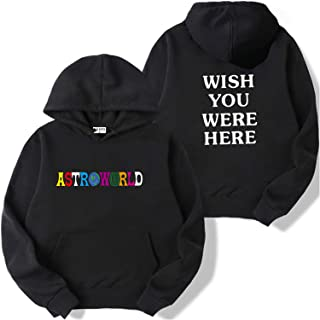 Travis Scott Astroworld Hoodie Sweatshirt Kpop Wish You were Here Print Plus Size Pullover Harajuku Hip Hop Unisex Men Women Hooded Hoodies
