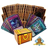 Yugioh 100 Card Lot - 10 Rares - 10 Holos - Golden Groundhog Treasure Chest Box!