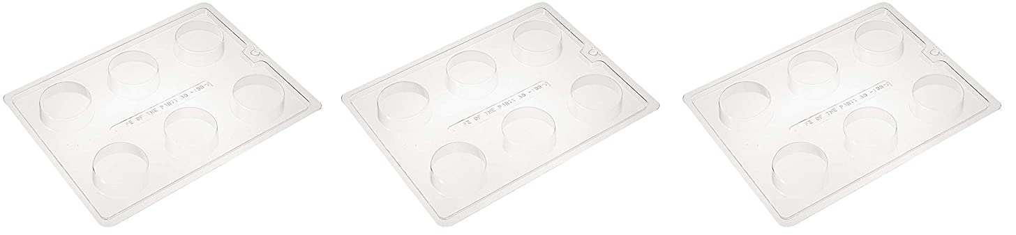 Cybrtrayd Life of the Party AO138 Plain Cookie Chocolate Candy Mold in Sealed Protective Poly Bag Imprinted with Copyrighted Cybrtrayd Molding Instructions (Thrее Расk)