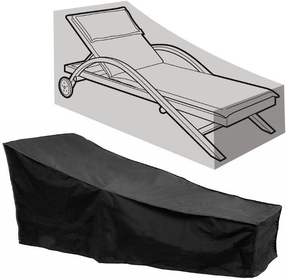 Regular dealer FLR Black Chaise Lounge Chair Patio Waterproof Cover Dust-Proof store