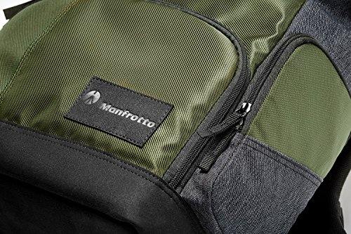 Manfrotto MB MS-BP-IGR Street Backpack for Camera, Fits DSLR or CSC with Standard Zoom Lens Attached, Extra Lenses, Accessories, 15 Inch Laptop