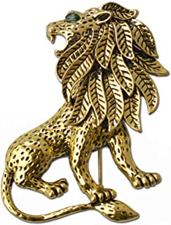 Annata Unisex in Lega di Leone Spilla in Oro Placcato per Abbigliamento Vestito
